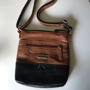 Stone & CO purse crossbody bag leather brown